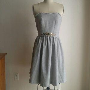 🆕 Banana Republic Gray Jeweled Dress